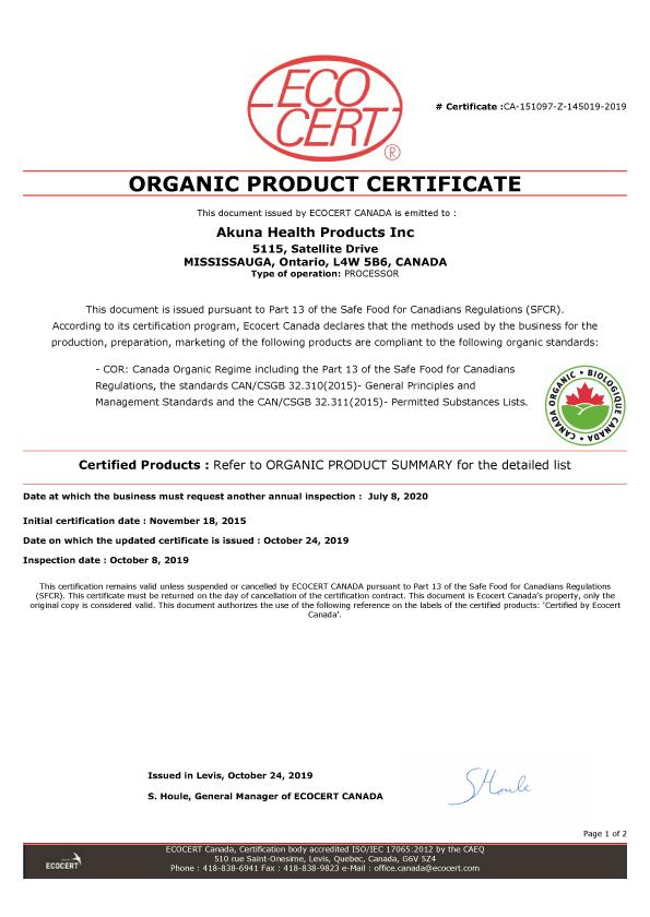 Organic 2020